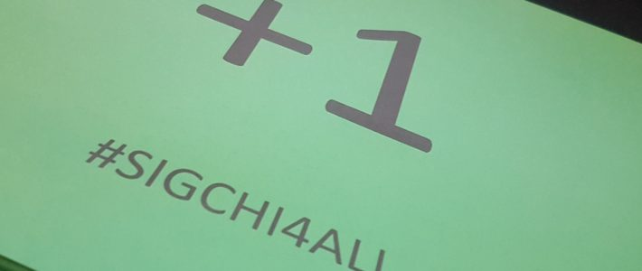 #SIGCHI4ALL