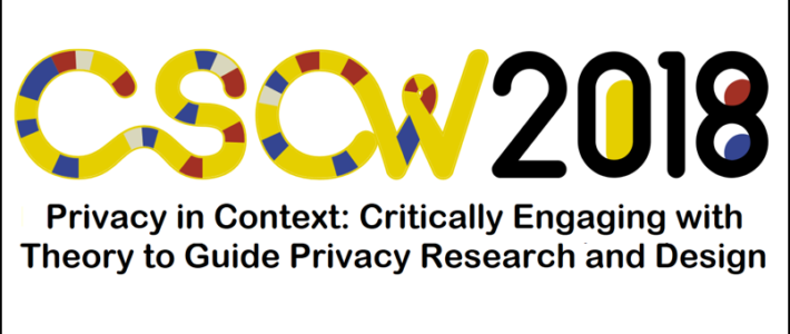 CSCW18 Workshop CFP