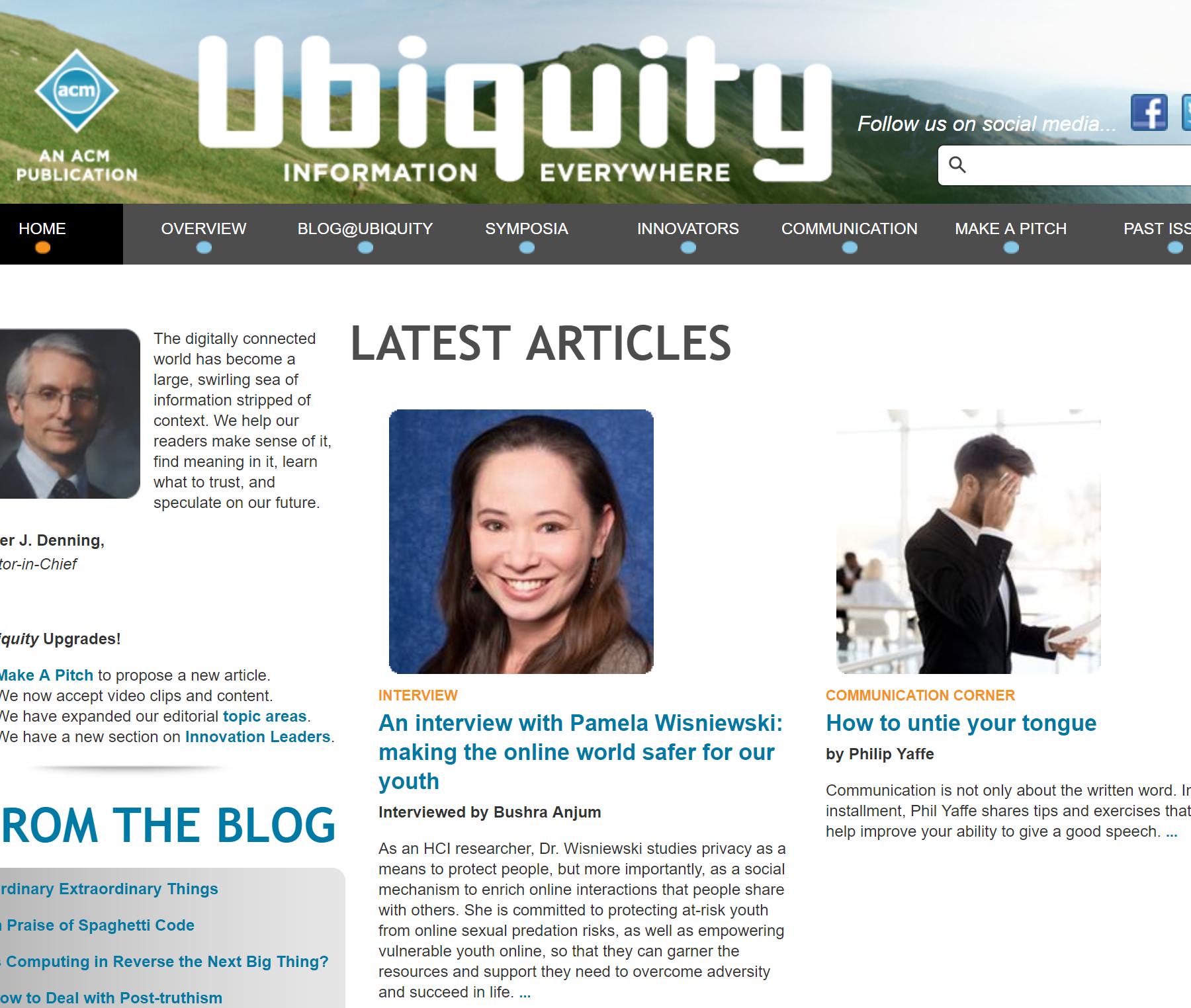ACM Ubiquity Interview